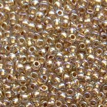 Toho 11/0 Seed Beads, Gold Lined Rainbow Crystal 994 - 10 grams